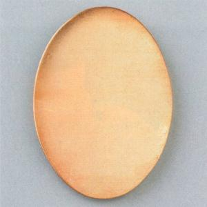 Kupferplatine oval, 64 x 45 mm, 10 Stk./Pkg.