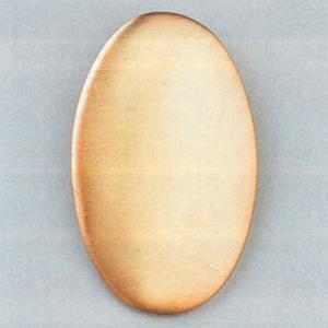Kupferplatine oval, 26 x 16 mm, 10 Stk./Pkg.